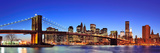 Brooklyn Bridge with New York City Manhattan Downtown Skyline Panorama at Dusk Illuminated over Eas Reproduction photographique par Songquan Deng