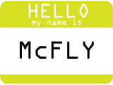 My Name Is Mcfly Stampe
