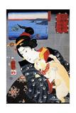 Cat and Noble Woman Arte por Kuniyoshi Utagawa