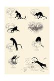 Cat Versus Goldfish Poster tekijänä Théophile Alexandre Steinlen