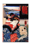 Quite Time with Cat Posters by Kuniyoshi Utagawa