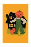 Pumpkin Headed Scarecrow Prints