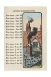 Rooftops of Pigeons Posters av Charles Butler