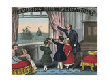 Teacher or Father Spies Ships in the Harbor with Children Posters av Charles Butler