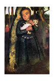 Woman and Cat Affischer av Paula Modersohn-Becker