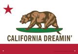California Dreamin Tin Sign Tin Sign