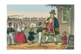 Teacher with Monkey Takes His Students on a Trip to London Posters av Charles Butler
