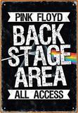 Pink Floyd Backstage Tin Sign Tin Sign