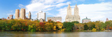 New York City Manhattan Central Park Panorama in Autumn Lake with Skyscrapers and Colorful Trees Ov Reproduction photographique par Songquan Deng