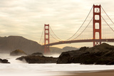 Golden Gate Bridge from Baker Beach, San Francisco, California, USA Stretched Canvas Print by Jose Luis Stephens