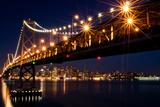 Bay Bridge in Front of San Francisco Skyline Fotografisk trykk av Blue Hour Photography