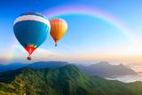 Colorful Hot-Air Balloons Fotografie-Druck von Patrick Foto
