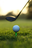 Close up of Golf Ball and Club on Course Fotografisk tryk af  Visage