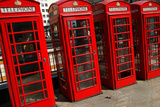 Row of Iconic Red Phone Boxes on the Strand in London Photographic Print by Doug McKinlay