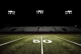 Football Field at Night Fotografisk tryk af Joseph Gareri