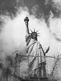 Repairing Liberty Photographic Print by Peter Keegan