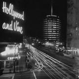 Hollywood and Vine Lámina fotográfica
