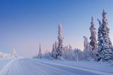Winter Landscape in Lapland Fotografisk trykk av  udvarhazi