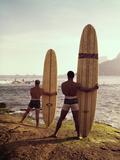 Surfboards Ready Reproduction photographique par Tom Kelley Archive