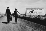 California Highway Fotografisk tryk af Dorothea Lange