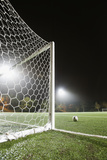 Usa, California, Ladera Ranch, Football in Front of Goal Fotografisk trykk av Erik Isakson