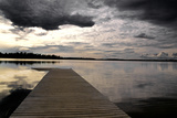 Pier on A Lake Photographic Print by  harvepino