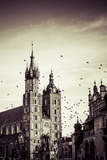 View at St. Mary's Gothic Church, Famous Landmark in Krakow, Poland. Photographic Print by Curioso Travel Photography