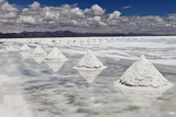 Piles of Salt on the Surface of the Salar De Uyuni Salt Lake, Bolivia Reproduction photographique par  zanskar