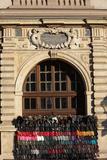 Grodzka Street Krakow - the Street Trade is Covering Monuments Reproduction photographique par  wjarek