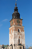 Town Hall Tower on Main Square of Cracow Reproduction photographique par  wjarek