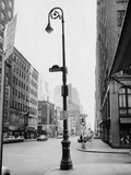 Street Scene at 52Nd St, NYC Photographic Print by George Marks