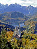 Neuschwanstein Castle near Fussen, Bavaria Photographic Print by Hans Peter Merten