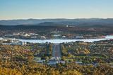 Canberra Cityscape Fotoprint av Andrew Watson