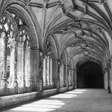 Cloisters Photographic Print by L. V. Clark