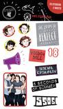 5 Seconds Of Summer Mix Sticker Pack Klistremerker