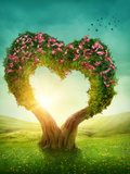 Heart Shaped Tree in the Meadow Photographic Print by  egal