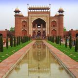 Taj Mahal Entrance Gate Reproduction photographique par JUST LIKE THAT!