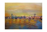 Golden Manhattan Skyline with One World Trade Center Affiches par Markus Bleichner