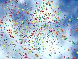 Balloons in Sky Photographic Print by raquel santana