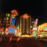 Neon Signs on the Strip, Las Vegas, Nevada Photographic Print by Chris Rogers