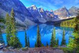 Moraine Lake, Banff, Rocky Mountain, Canada Fotografisk tryk af All Rights By Krishna.Wu