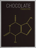 Chocolate (Theobromine) Molecule Poster