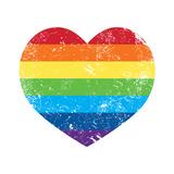 Gay Rights Rainbow Retro Heart Flag Prints by  RedKoala