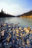 Athabasca River, Jasper Nationalpark, Canada Impressão fotográfica por Hans Peter Merten