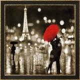 A Paris Kiss Kunstdruck von Kate Carrigan