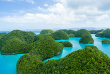 Flying over Lush Tropical Rock Islands, Palau Photographic Print by Ippei Naoi