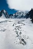 Ice Cracks on Mont Blanc Photographic Print by Mario Ubeda Garcia