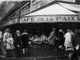 Cafe De La Paix Fotoprint van  FPG