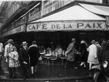 Cafe De La Paix Photographic Print by  FPG