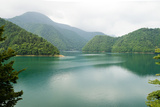 Lake Surrounded by Forested Mountains, Japan Photographic Print by Ippei Naoi